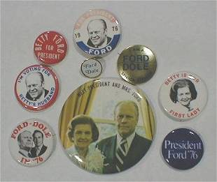 9 Political Buttons: Ford