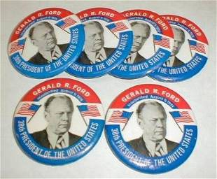 6 Inaugural Buttons: Ford