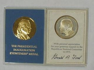 8: 2 Political Medals: Ford, Sterling Silver