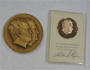 Nixon Bronze Inaugural Medal & Bronze Campaign Meda