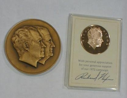 11: Nixon Bronze Inaugural Medal & Bronze Campaign Meda