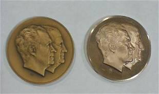 2 Inaugural Medals: Nixon/Agnew Jugate