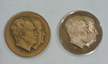 12: 2 Inaugural Medals: Nixon/Agnew Jugate