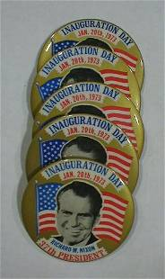 5 Inaugural Buttons: Nixon
