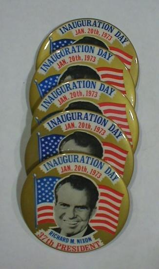 13: 5 Inaugural Buttons: Nixon