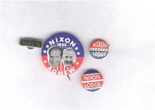 4 Nixon Items: 1960, 1968, 1972