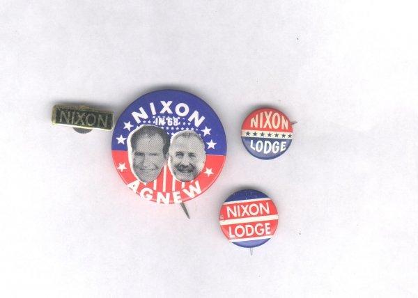 13A: 4 Nixon Items: 1960, 1968, 1972