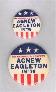 2 Fantasy Pins: Agnew/Eagleton