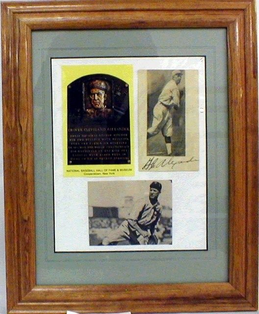 1002: HOF Grover Alexander Framed Photos, 1 autographed
