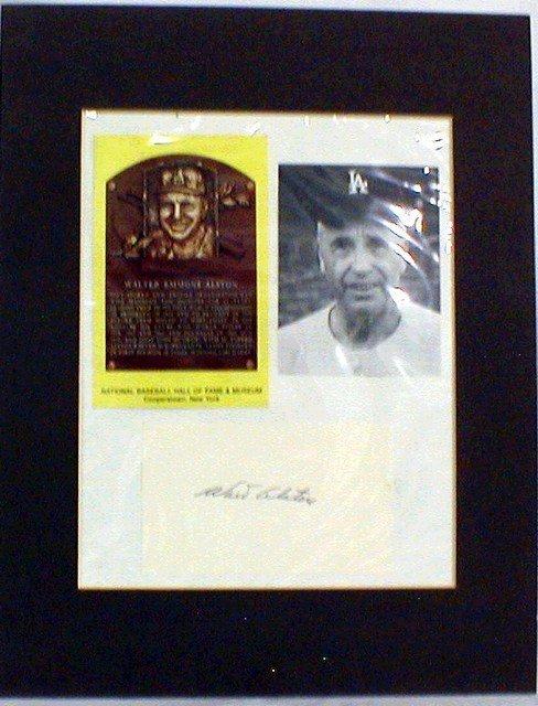 1003: HOF Walt Alston Matted Photograph & Autograph
