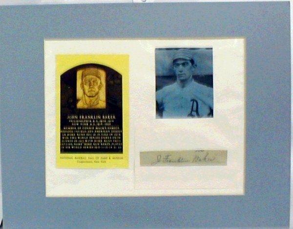 1007: HOF Frank Baker Matted Photograph & Autograph