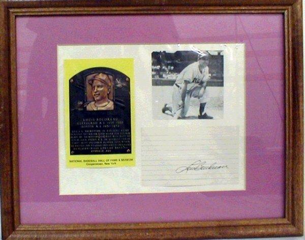 1015: HOF Lou Boudreau Framed Photograph & Autograph