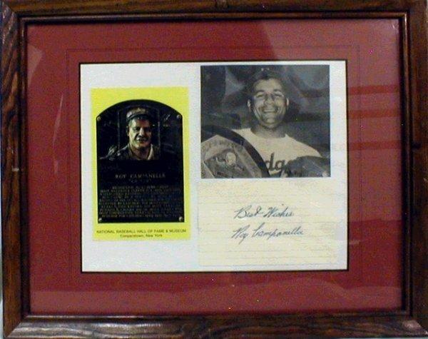 1016: HOF Roy Campanella Framed Photograph & Autograph