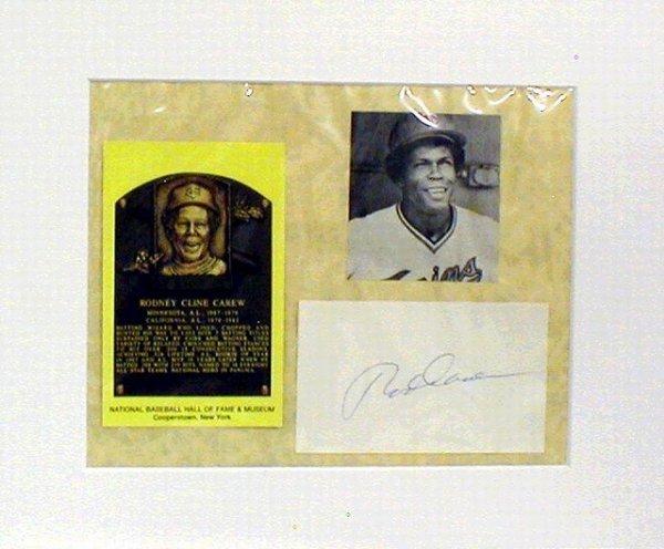 1017: HOF Rod Carew Matted Photograph & Autograph