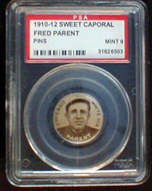 1217: Baseball 1910-12 P2 Fred Parent PSA 9 Mint