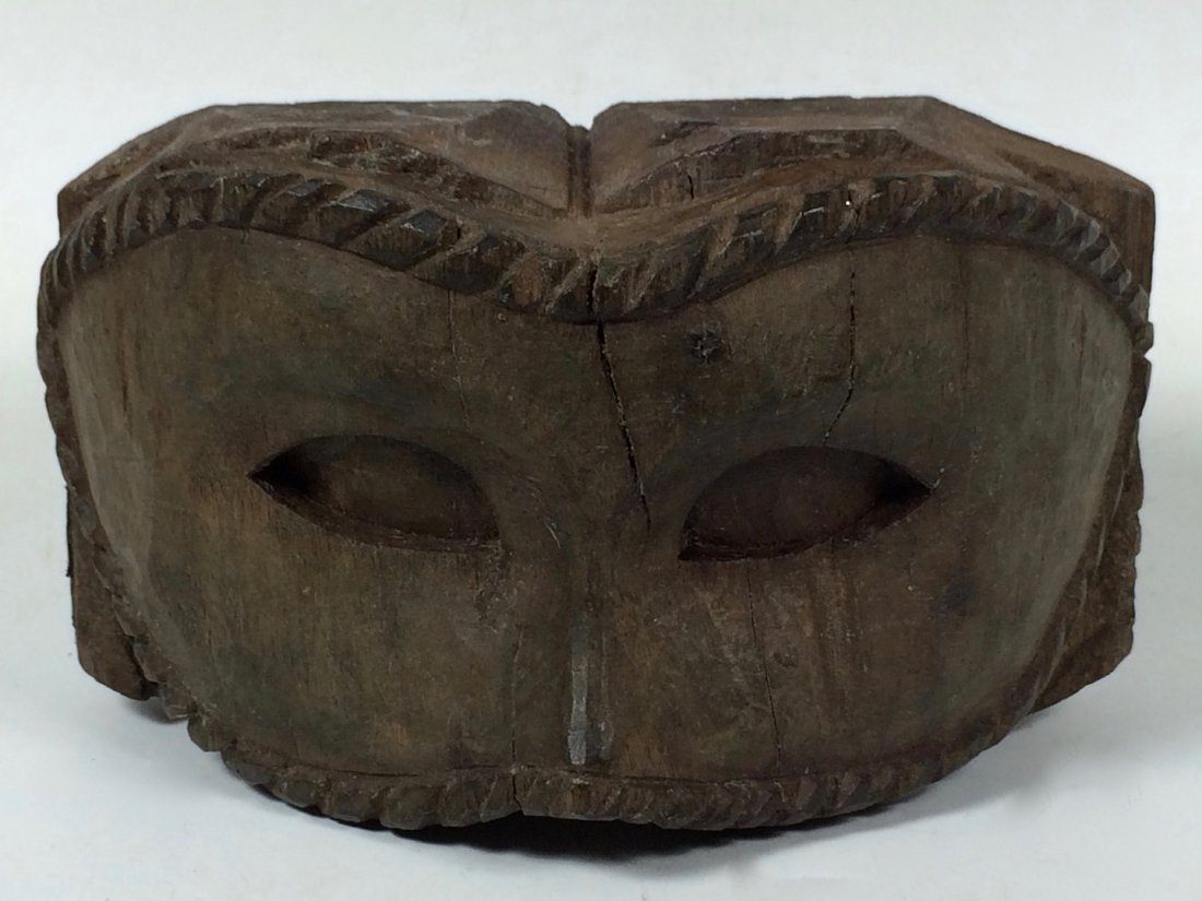 Carved Wood Mask Paper Mache Mold/Pattern