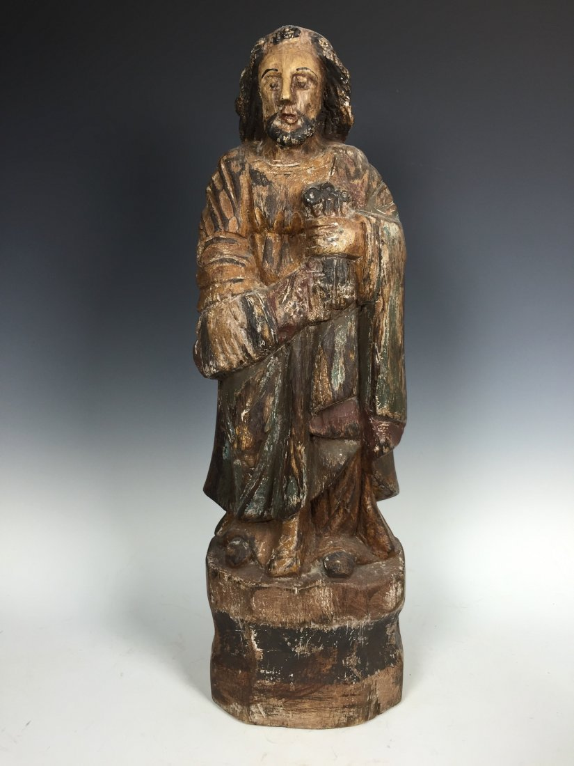 Carved Wood Religious Saint Peter