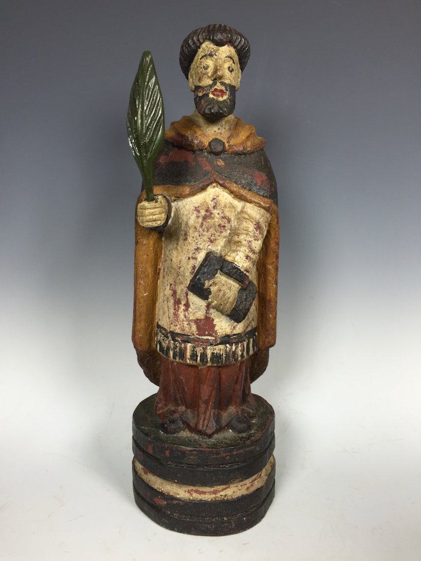 Carved Wood Religious Saint Paul