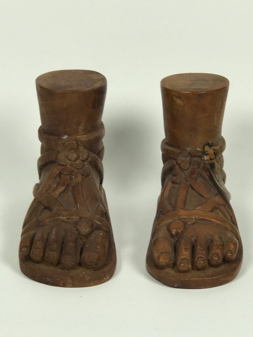 Carved Wood Religious Jesus Feet