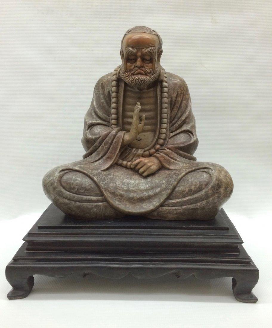 Carved Soapstone Sitting Lohan