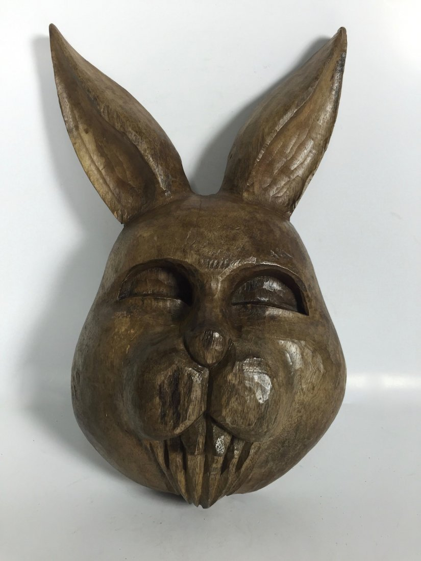 Papermache Mold of Rabbit - Face