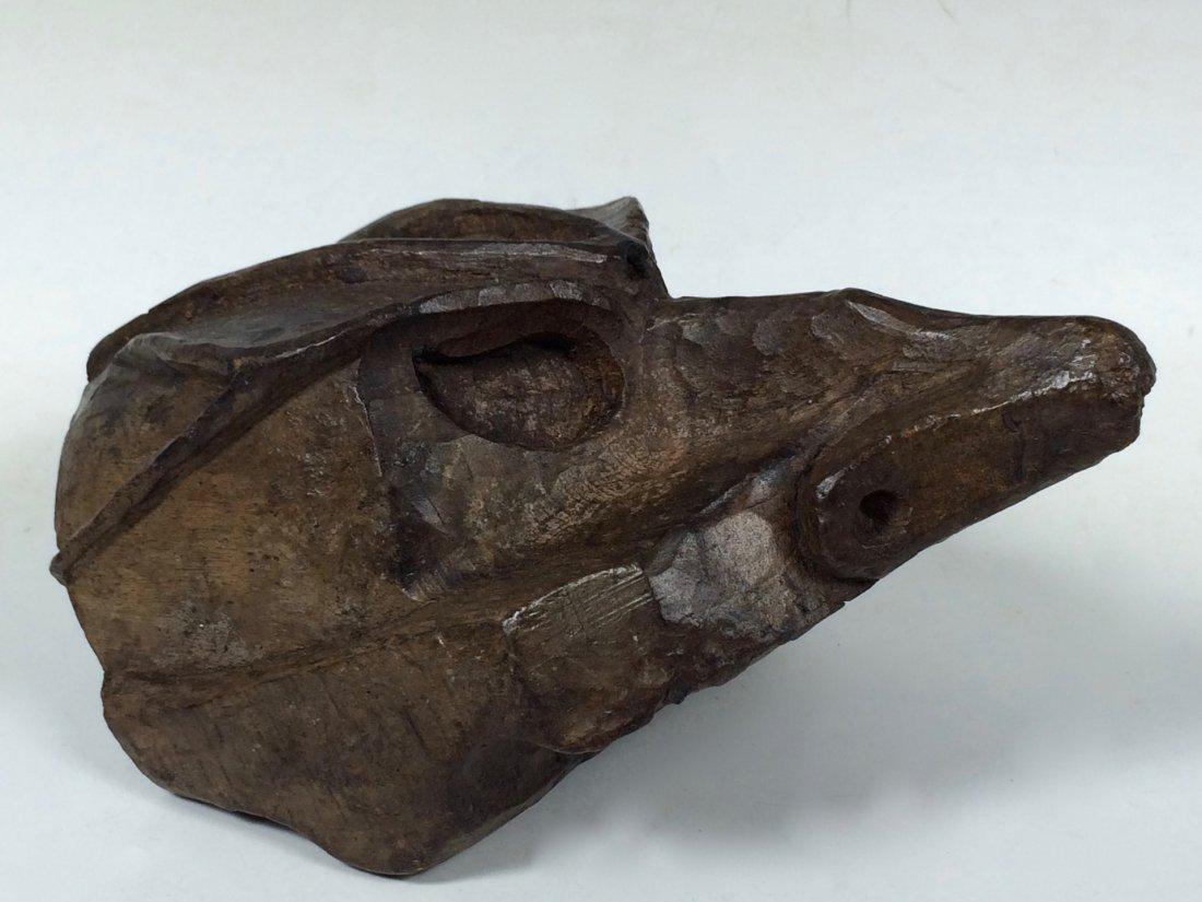 Papermache Mold of Bird Head