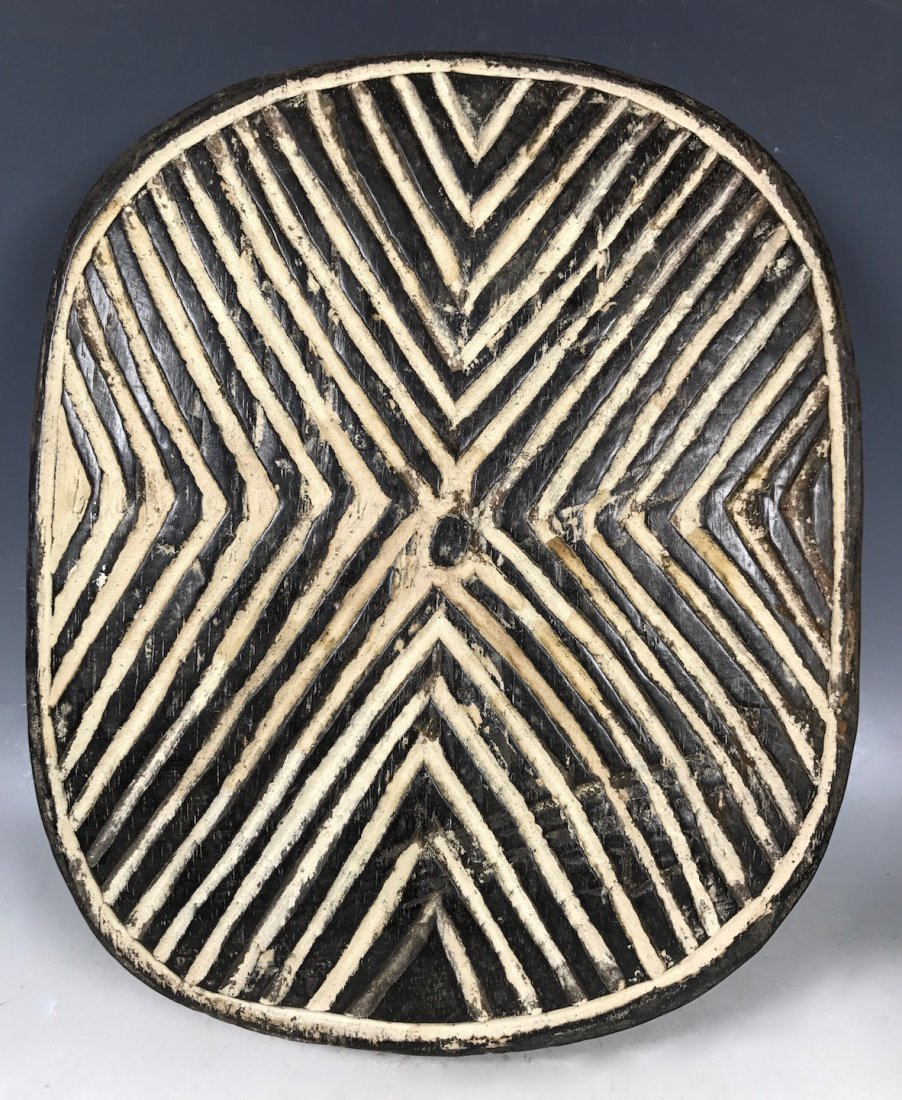 Zulu Carved Wood Shield