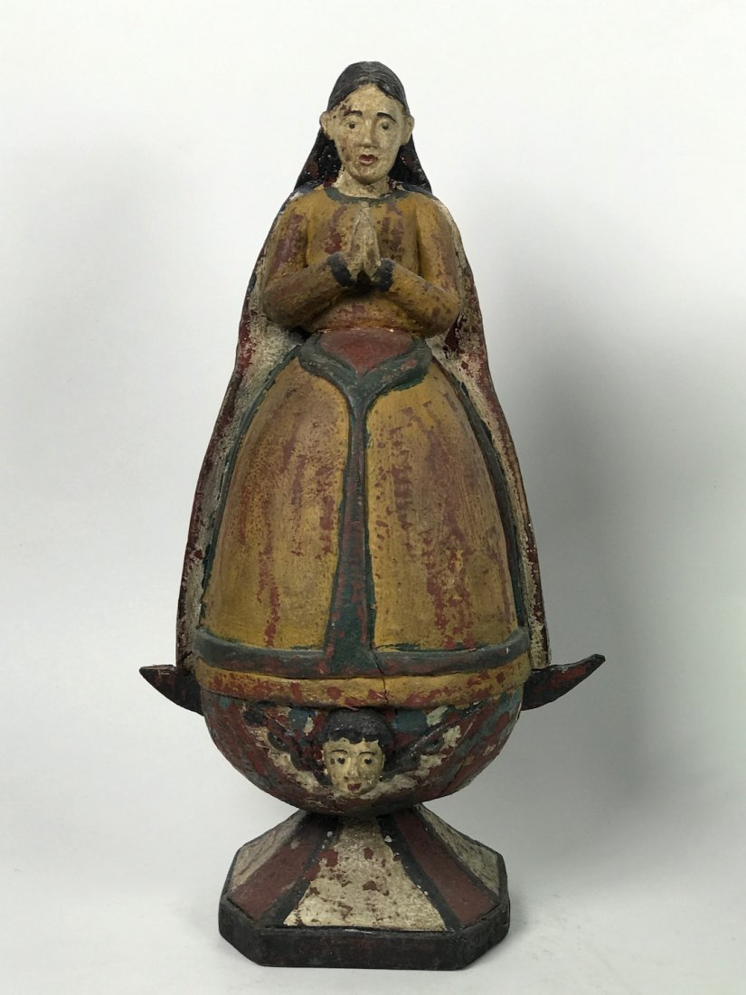 Carved Wood Virgin Mary