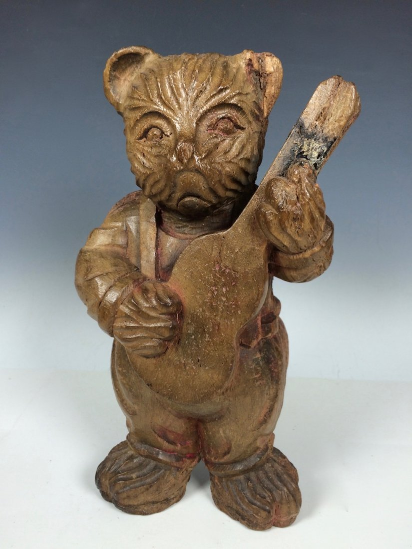 Carved Wood Paper Mache Mold - Teddy Bear