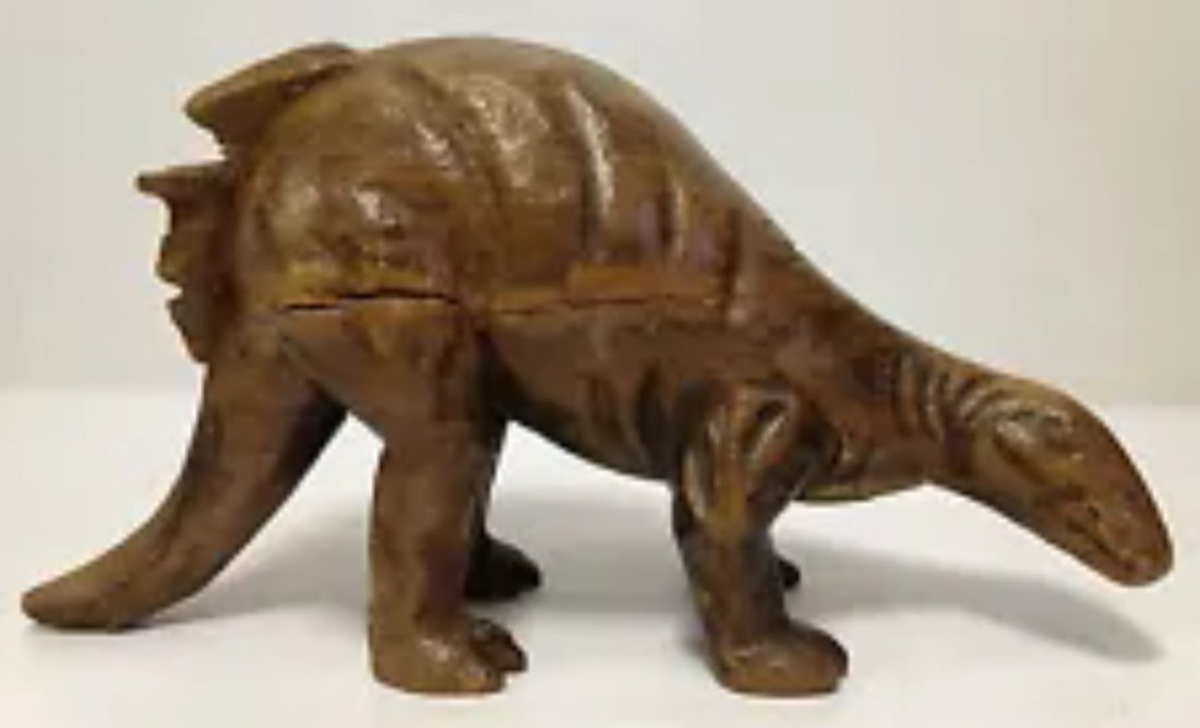 Carved Wood Paper Mache Mold - Dinosaur