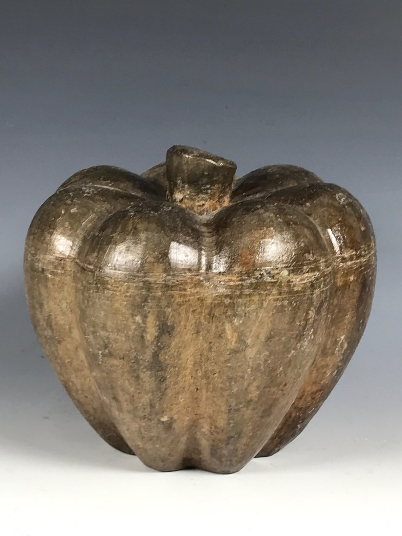 carved Wood Paper Mache Mold - Squash