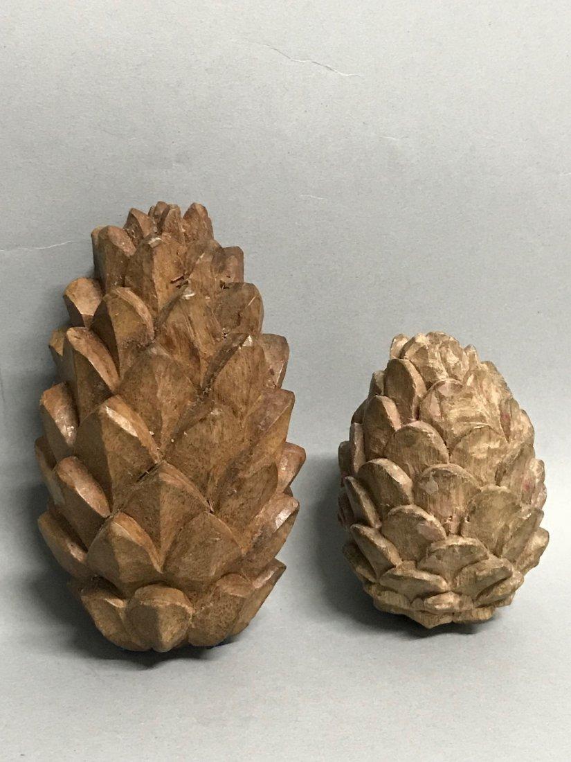 Carved Wood Paper Mache - Mistle Toe