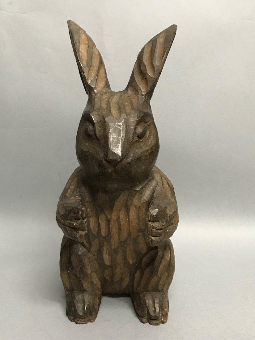 Carved Wood Paper Mache - Rabbit