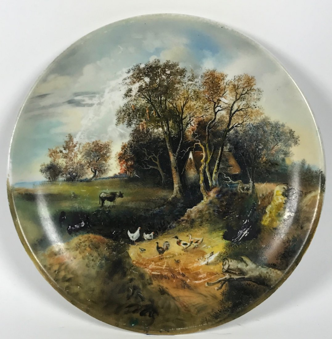 Porcelain Painted Plate