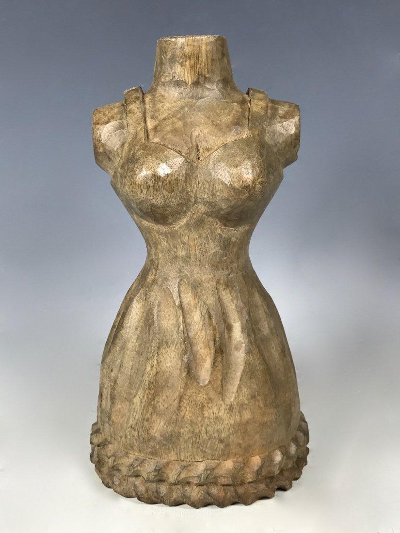 Carved Wood Paper Mache - Dress Form
