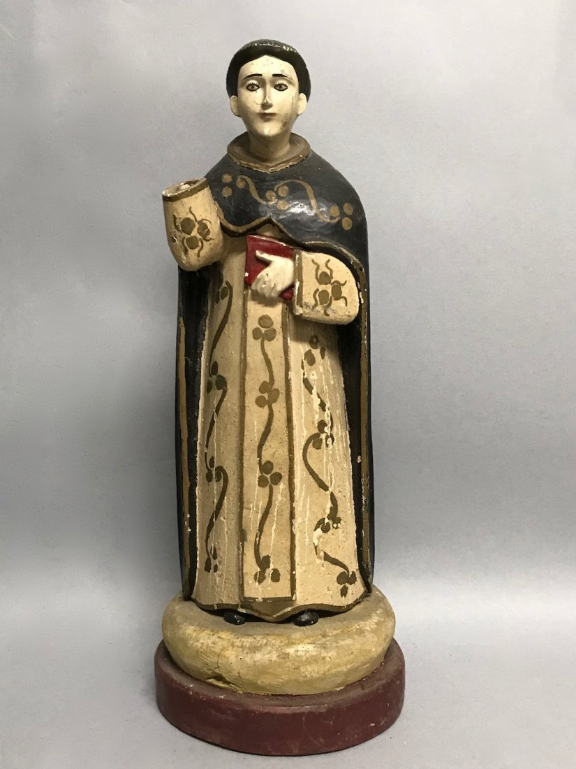 Carved Wood Saint - 19th Century San Vicente Ferrer