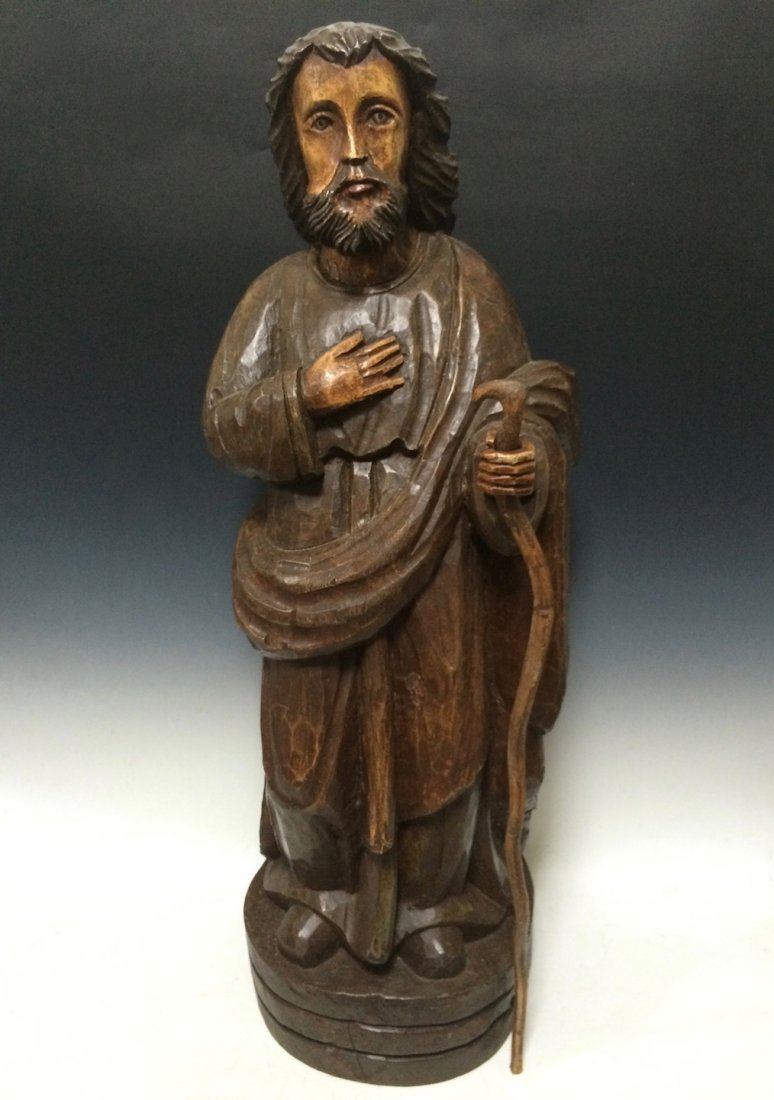 Carved Wood Saint Joseph