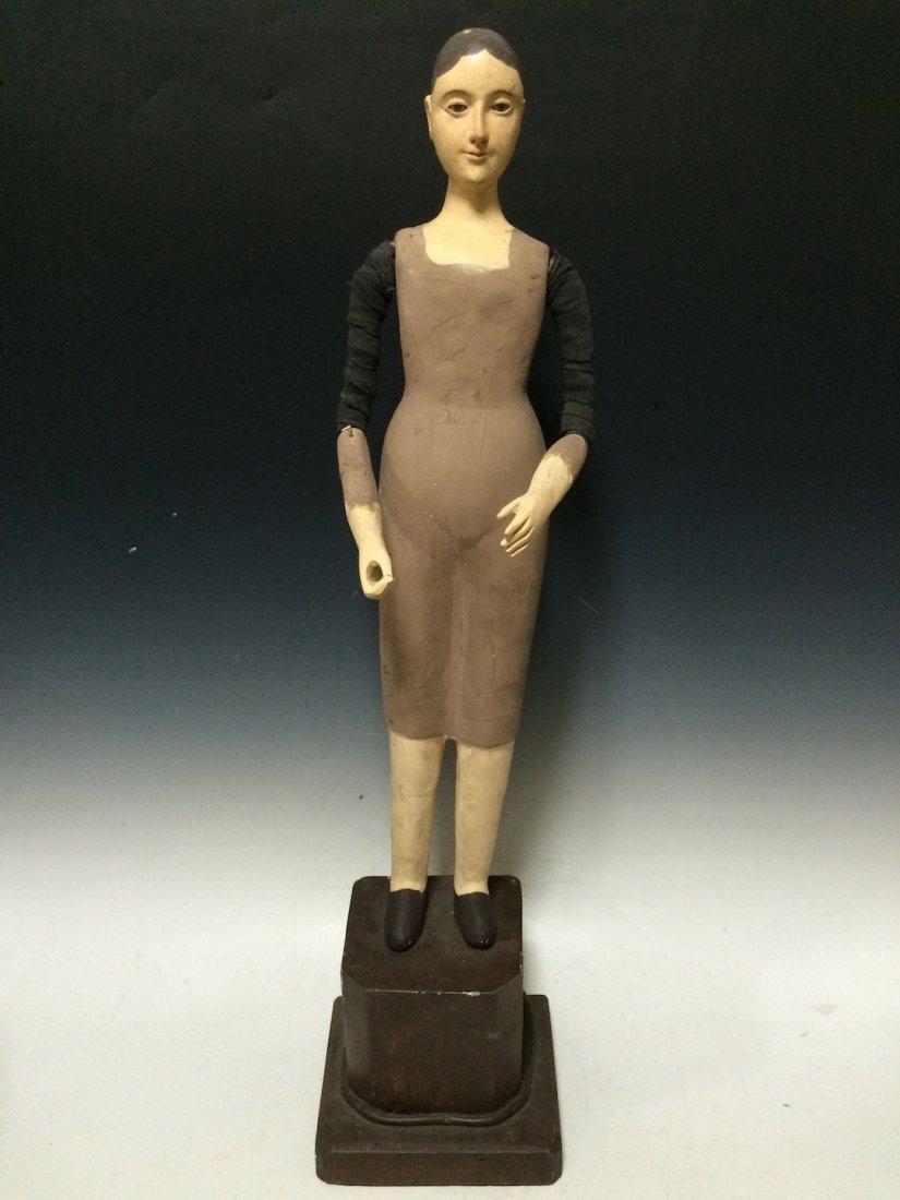 Carved Wood Mannequin