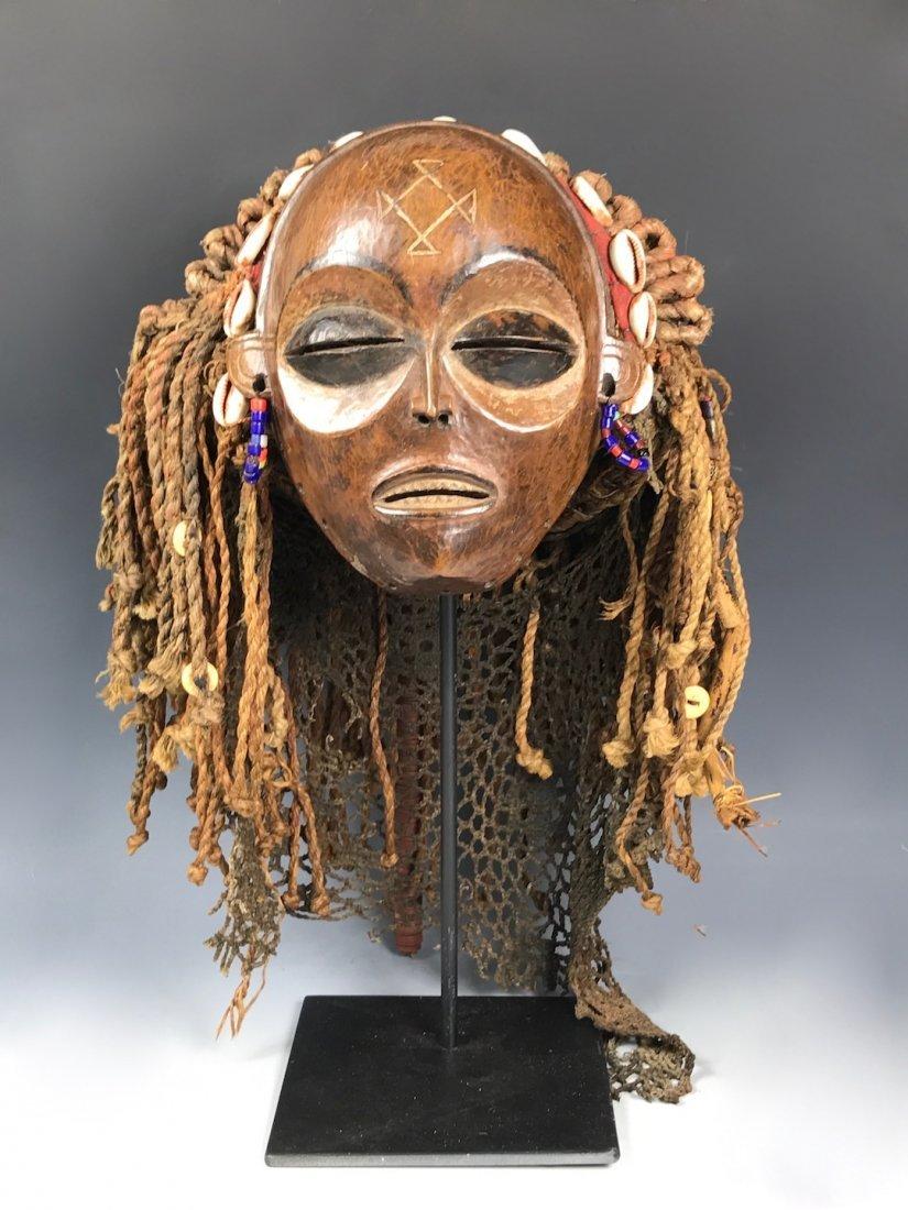 Chokwe Mask with Metal Base