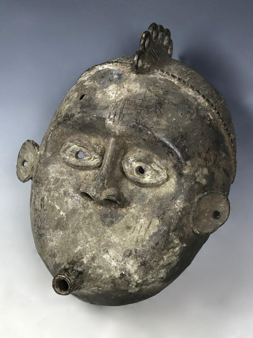 Benin Bronze Mask - 2