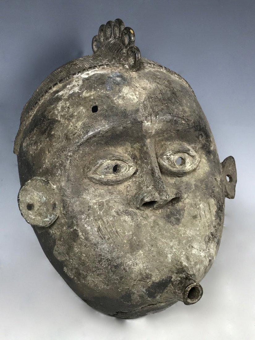 Benin Bronze Mask - 3