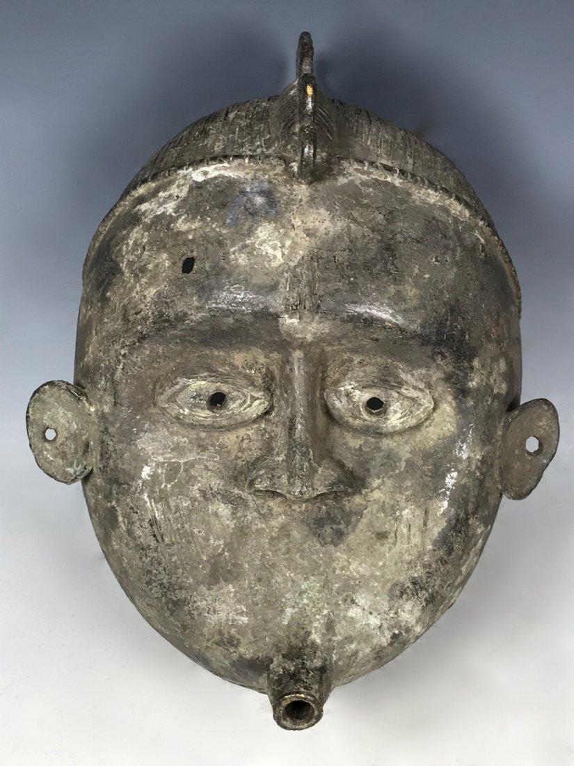 Benin Bronze Mask - 4