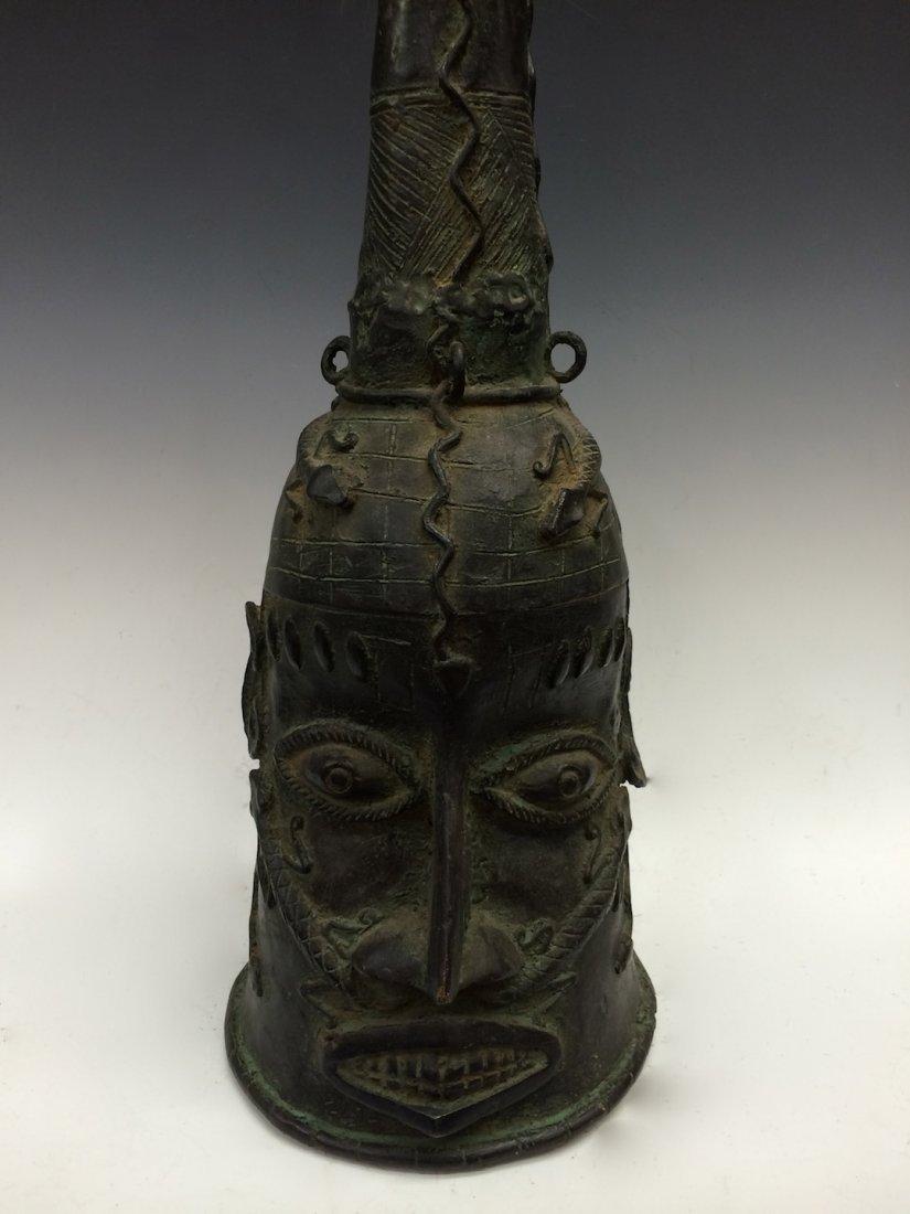 Large Benin Bronze Bell - 2