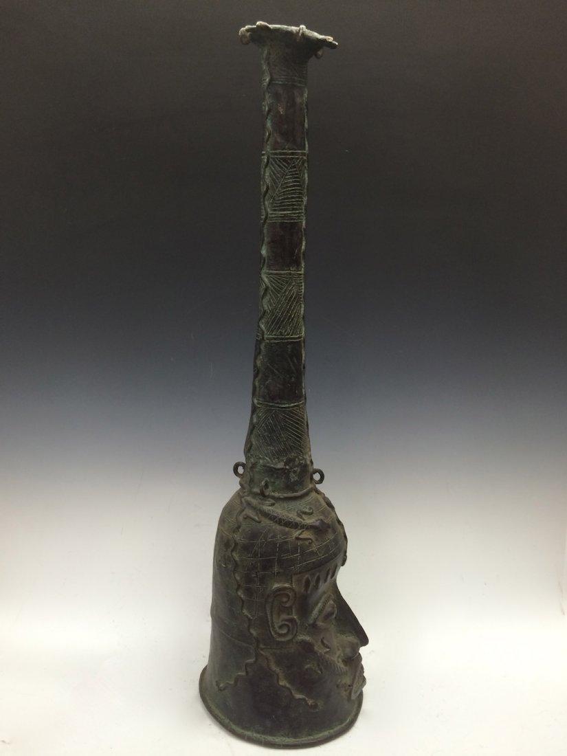 Large Benin Bronze Bell - 5
