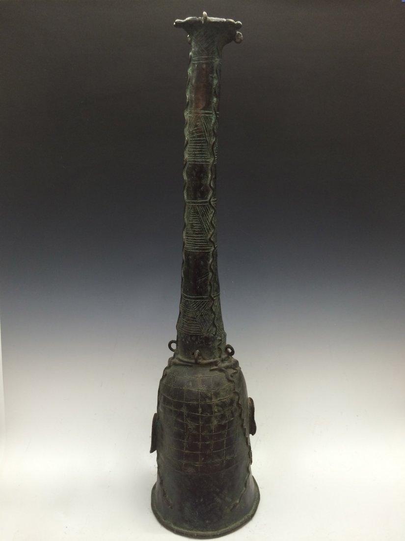 Large Benin Bronze Bell - 7