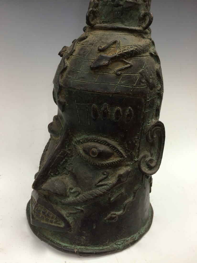 Large Benin Bronze Bell - 8