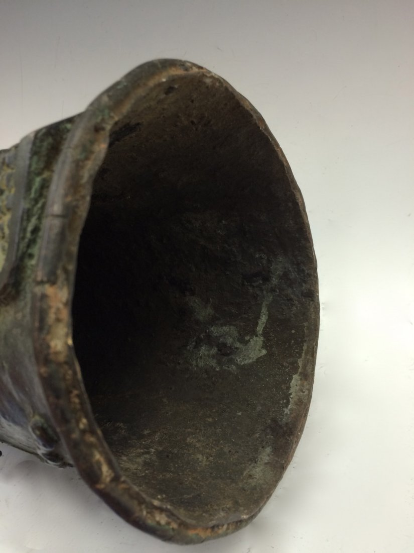 Large Benin Bronze Bell - 9