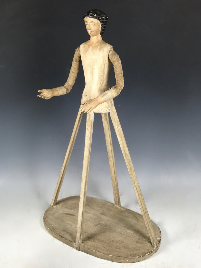 Carved Wood Mannequin Cage Doll - 4