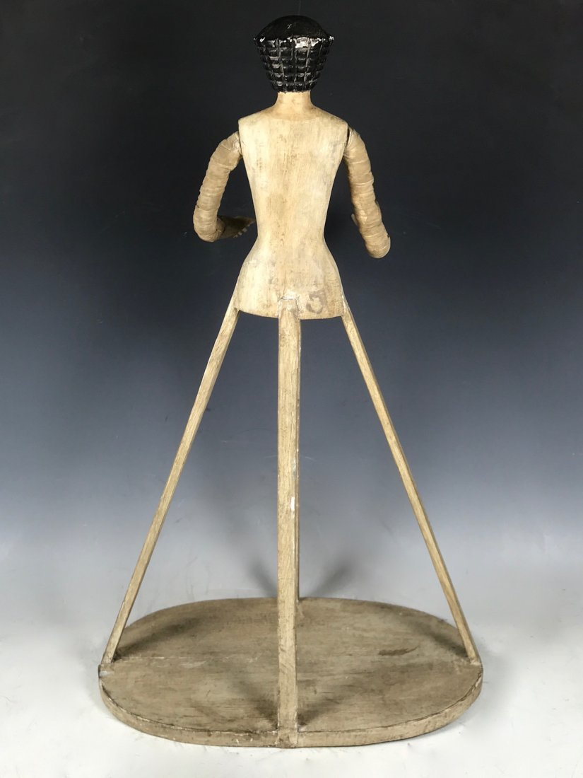 Carved Wood Mannequin Cage Doll - 7