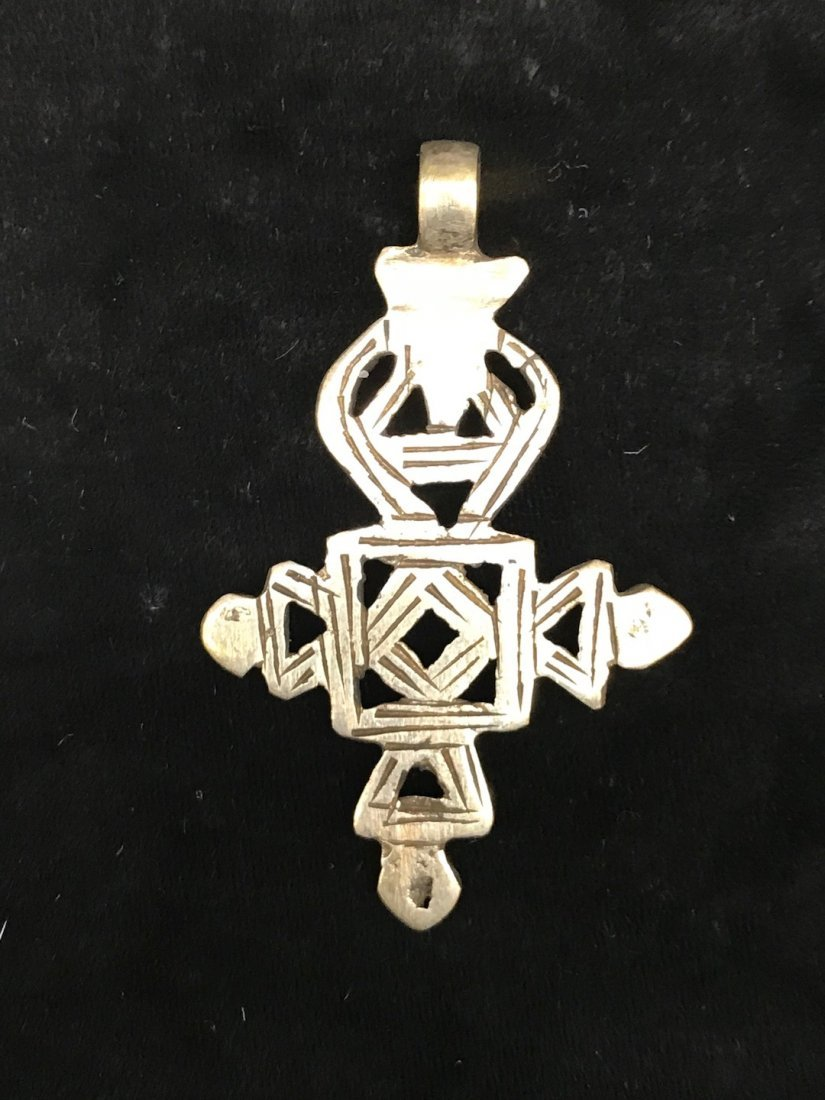 Set of 2 Ethiopian Metal Coptic Cross Pendant - 5